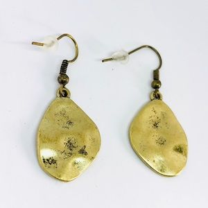 New! Vintage Gold Textured Dangle Earrings